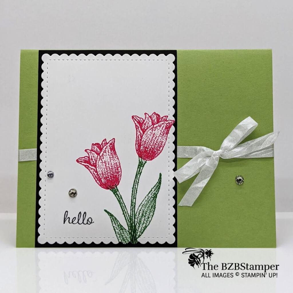 A Simple Handmade Tulip Card