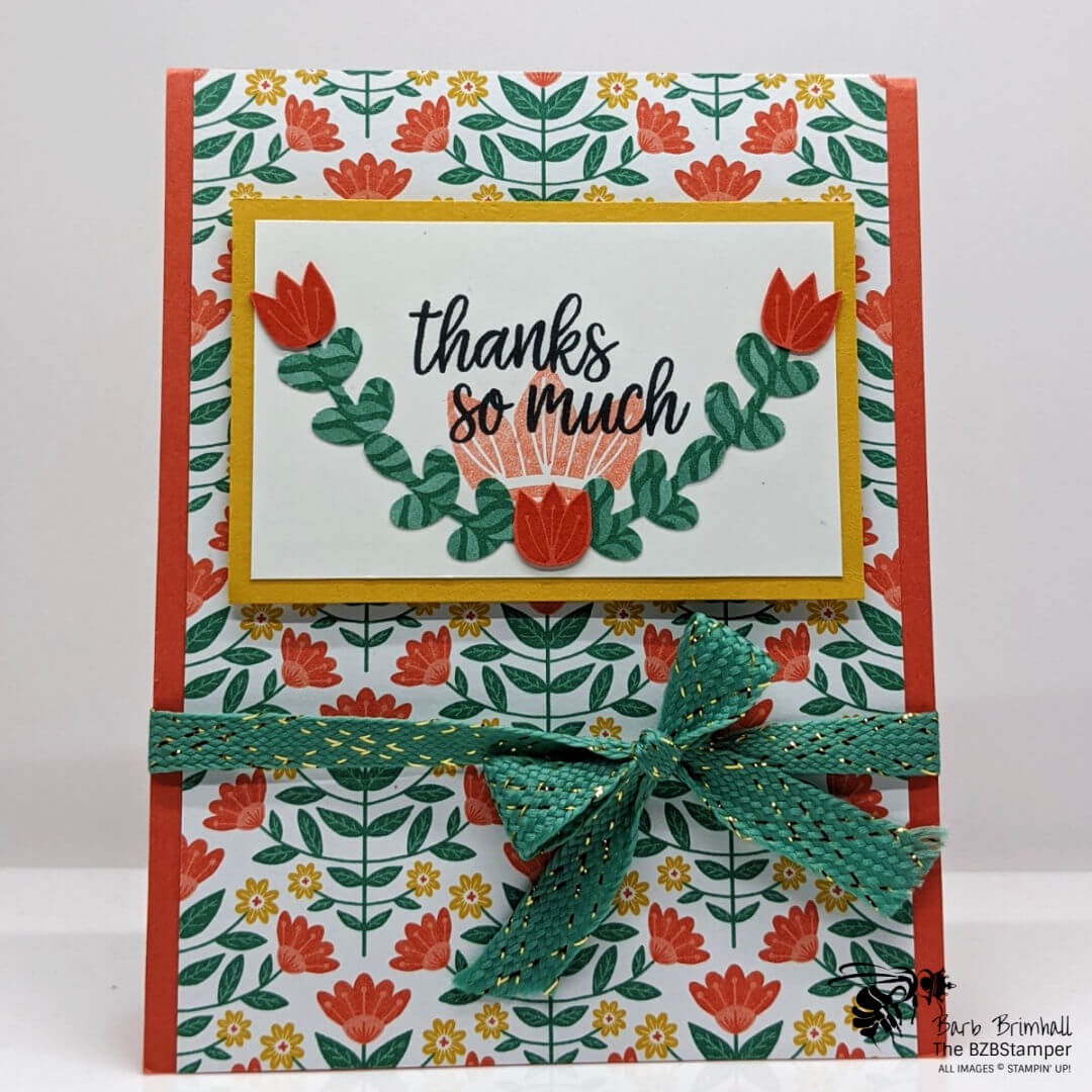 In Symmetry Bundle by Stampin' Up! coral flowers