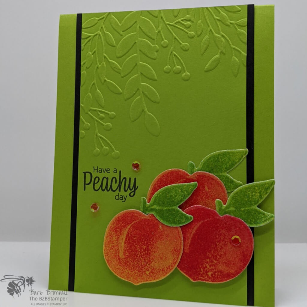 Stampin' Up! Rainbow Paper to make peach images