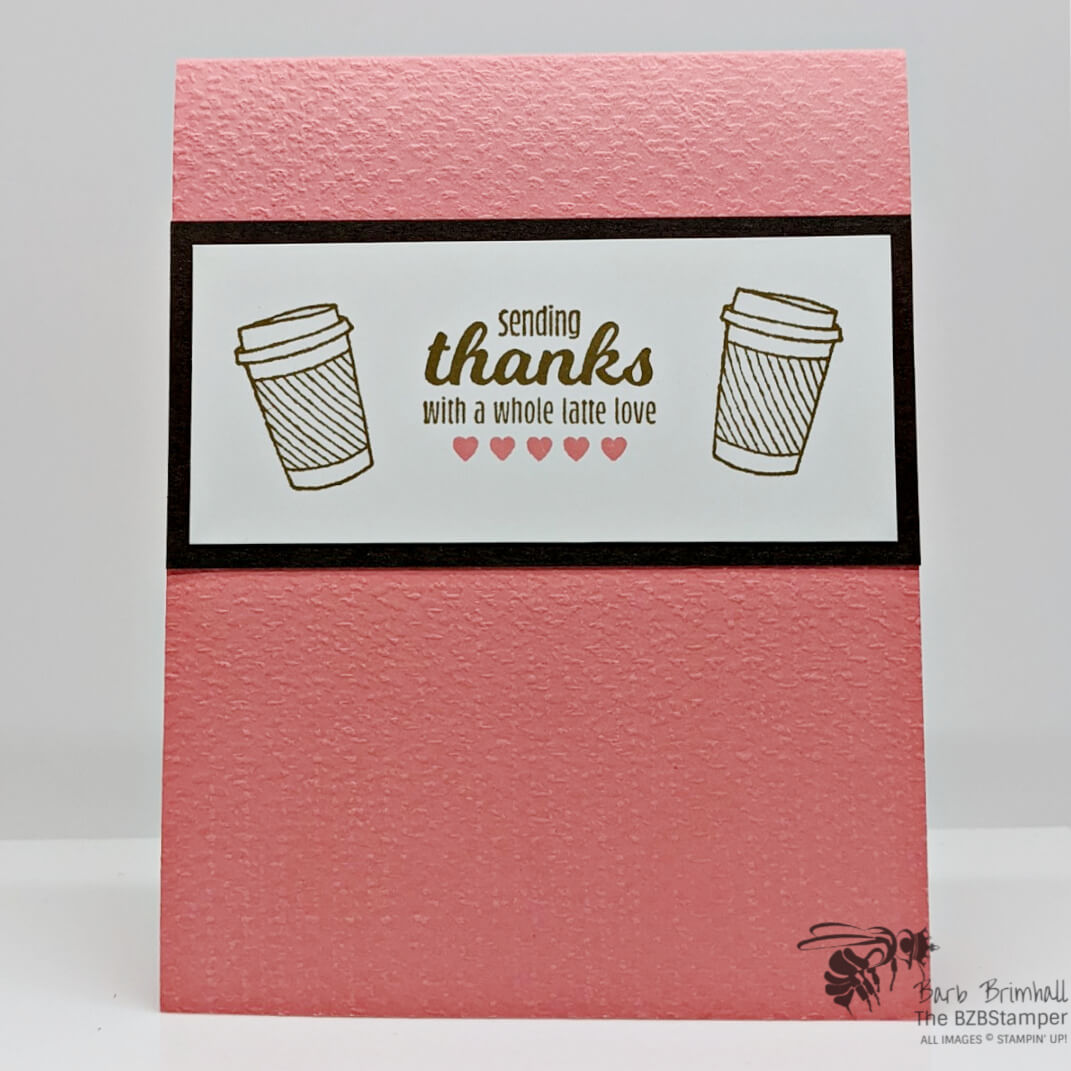Cardmaking Tutorial using Stampin Up Masks in Pink and Brown
